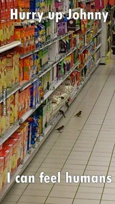 """I was at the supermarket the other day and..."""