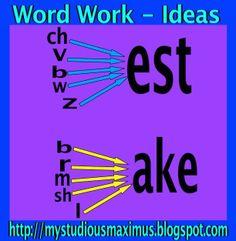 Word Work - Ideas