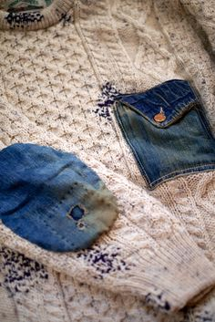 altering clothing, adding denim to knits