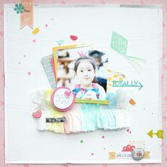#papercraft #scrapbook #layout.  sweet girl by JINA-B @2peasinabucket