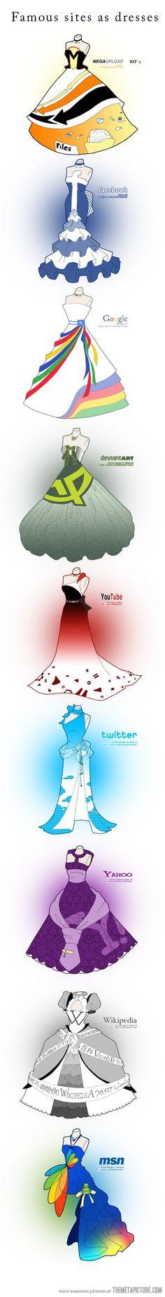 If famous websites were dresses