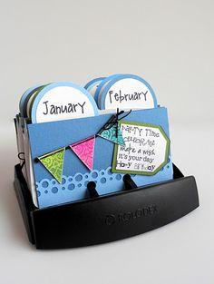 Birthday Calendar made using a rolodex