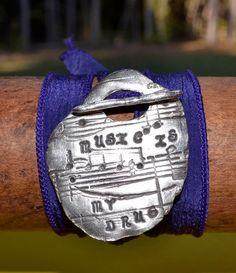 Music+Wrap+Bracelet+Fine+Silver+Bracelet+Eco+by+baublesbyeli,+$45.99