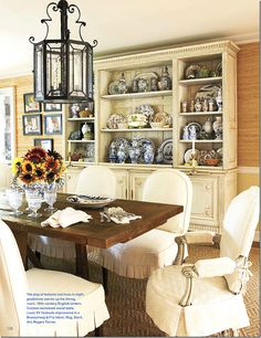 Light dining rooms, white slipcov, dine room, casual dining, dining chairs, charlott moss, slipcov style, cote de, de texa