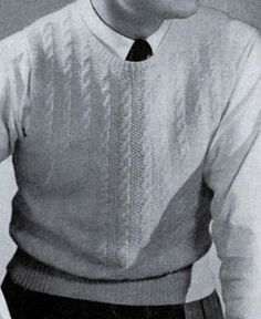 Fingering Yarn Sleeveless Sweater knit pattern from Sweaters for Men & Boys, originally published by Jack Frost, Volume No. 40, from 1947. http://freevintageknitting.com/mens-vest-patterns/jackfrost40/fingering-yarn-sleeveless-sweater-pattern