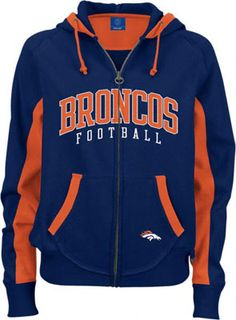 Denver Broncos Girl   Denver Broncos Women's Navy Sunday Hooded Sweatshirt