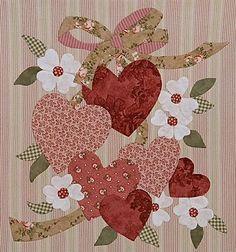 vintage vintage heart, heart appliqu, vintag heart, vintage valentines, vintag valentin, quilting applique, valentine quilts, heart quilts, applique quilt designs