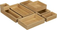 Bamboo Drawer Organizers in Food Containers, Storage | Crate and Barrel