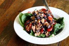 black bean and roasted tomato salad.