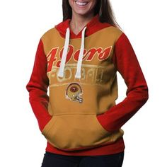San Francisco 49ers Ladies Divisional Pullover Hoodie - Cardinal/Gold  YES PLEASE!