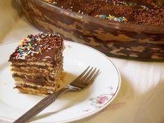 Torta de bolachas marmorizada