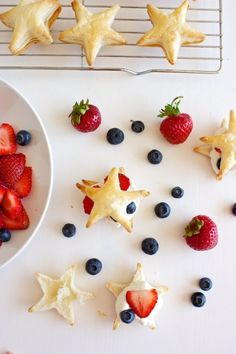 A last-minute Fourth of July dessert: Berries & Cream Pastry Stars