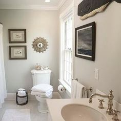 Edgecomb Gray - Traditional - bathroom - Benjamin Moore Edgecomb Gray - Beach Glass Interior Designs