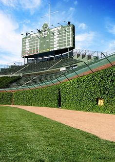 An amazing piece of Chicago history - Wrigley Field, home of the Chicago Cubs.
