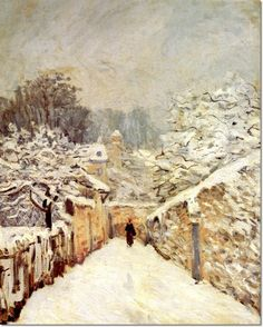 Alfred Sisley - Snow at Louveciennes (artist study)