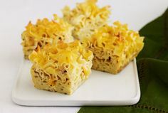 Jewish savory kugel. Modify it though: use medium noodles so they are a little hard, since they continue cooking in the oven. 1/4 stick of butter, one tsp of black pepper instead of 1/2 and put 1/2 tsp salt in the boiling water to add flavor to the noodles and the other 1/2 tsp in the mix.