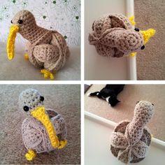 Crochet Kiwi Puzzle - FREE pattern
