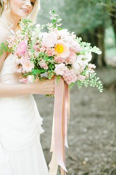 A lush, blush pink bouquet