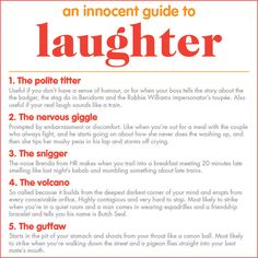 a guide to laughter - brilliant!!