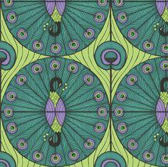 Peacock Dot fabric by ceanirminger on Spoonflower - custom fabric