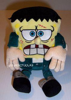 SpongeBob Squarepants Plush TY Beanie Buddies 2006 Doll Frankenstein Halloween