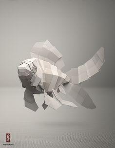 Texstyle creatures by Jeremy Kool, via Behance