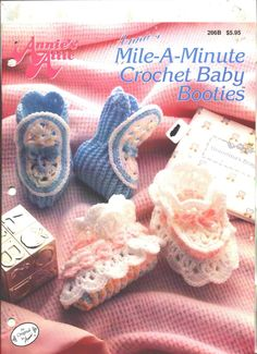 Annie's Mile A Minute Baby Booties Crochet Patterns Annie's Attic - crochet a pair of booties for the baby