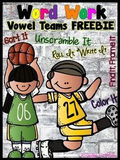 *FREEBIE* Interactive Word Work: Vowel Teams - oi & oy