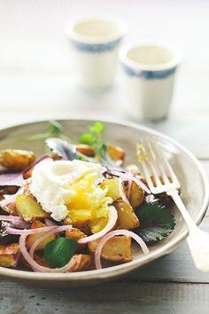 Poached Egg On Potato Hash
