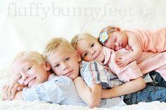siblings newborn photo - fluffy bunny feet photo