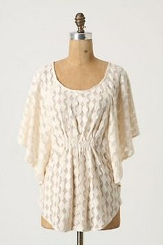 #anthropologie top. could be easy to make with some really pretty fabric