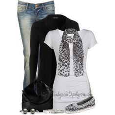 Leopard Scarf & Sperry's