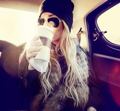 fashion, winter style, long hair, outfit, blond, fur, shade, fall styles, hat