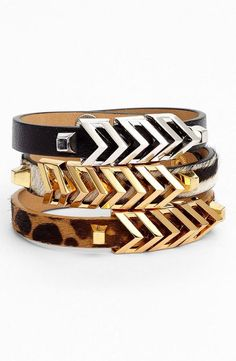 V is for Vince Camuto. Loving these chevron bracelets!