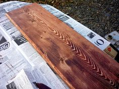 Ninth Street Notions: How to Stain Wood