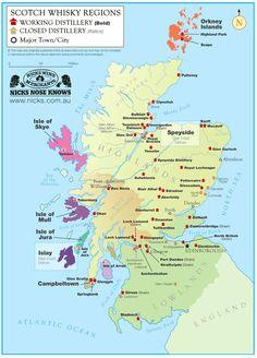 Whisky regions in Scotland - #Scotch #Whisky #Whiskey #Malt #Rye #Bourbon Single Malt Scotch Whisky