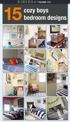 these bedrooms are perfect for little boys--so adorable!
