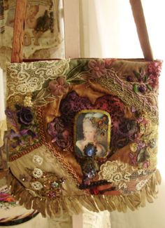 Gorgeous applique bag