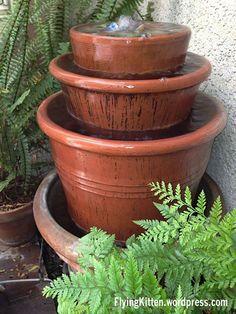 How To Make this Beautiful Outdoor Clay Pot Fountain. Mirá @aacordoba para el patio