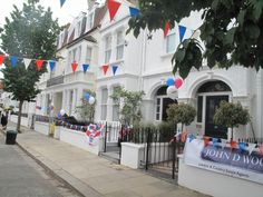 A London home gets dressed up for the celebrations. Also needs a house sitter during Olympics!