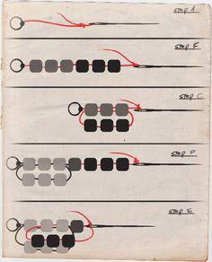 Spiral Seed Bead Bracelet