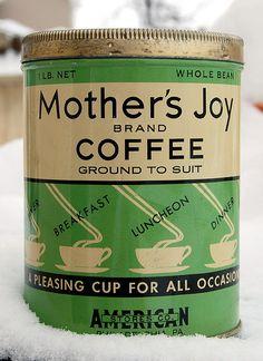 Mother's Joy Coffee, 1930s.