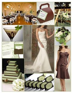 green and brown wedding