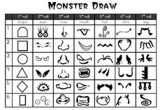 Fun! Roll a monster game - roll and draw