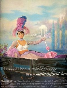 I dreamed I had a stylish carriage in my Maidenform bra - 1961