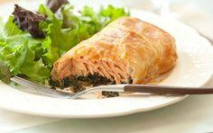 salmon wellington, seafood recipes, whole foods market, summer recip, button, beef, fish, wild mushrooms, salmonwellington