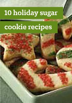 10 Holiday Sugar Cookie Recipes - Most cookies, bars and brownies start with butter, sugar and vanilla. But sugar cookie recipes require little else to make them yummy—though you'll often find cream cheese, chocolate, sour cream or even JELL-O added for texture and color.