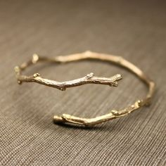 Gold tree branch bracelet-as a ring