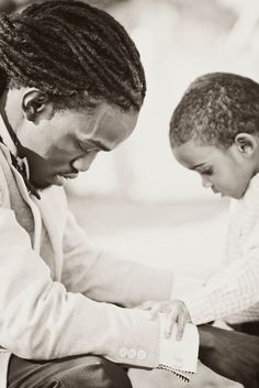 Power of a praying father...what better example can he be than to teach his son to pray?