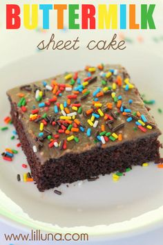 The Best Chocolate Sheet Cake